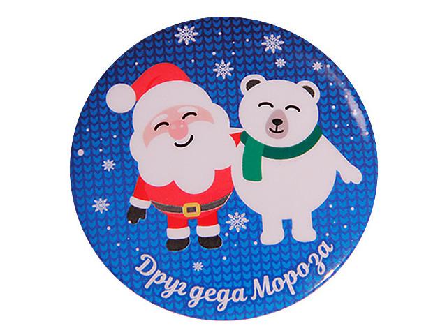 Закатной значок Орландо Друг Деда Мороза 034001зз56011