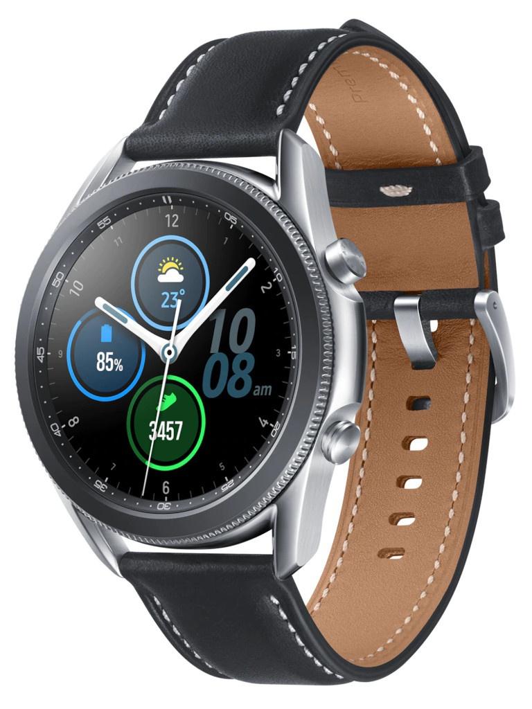 Умные часы Samsung Galaxy Watch 3 45mm Silver SM-R840NZSACIS Выгодный набор + серт. 200Р!!!