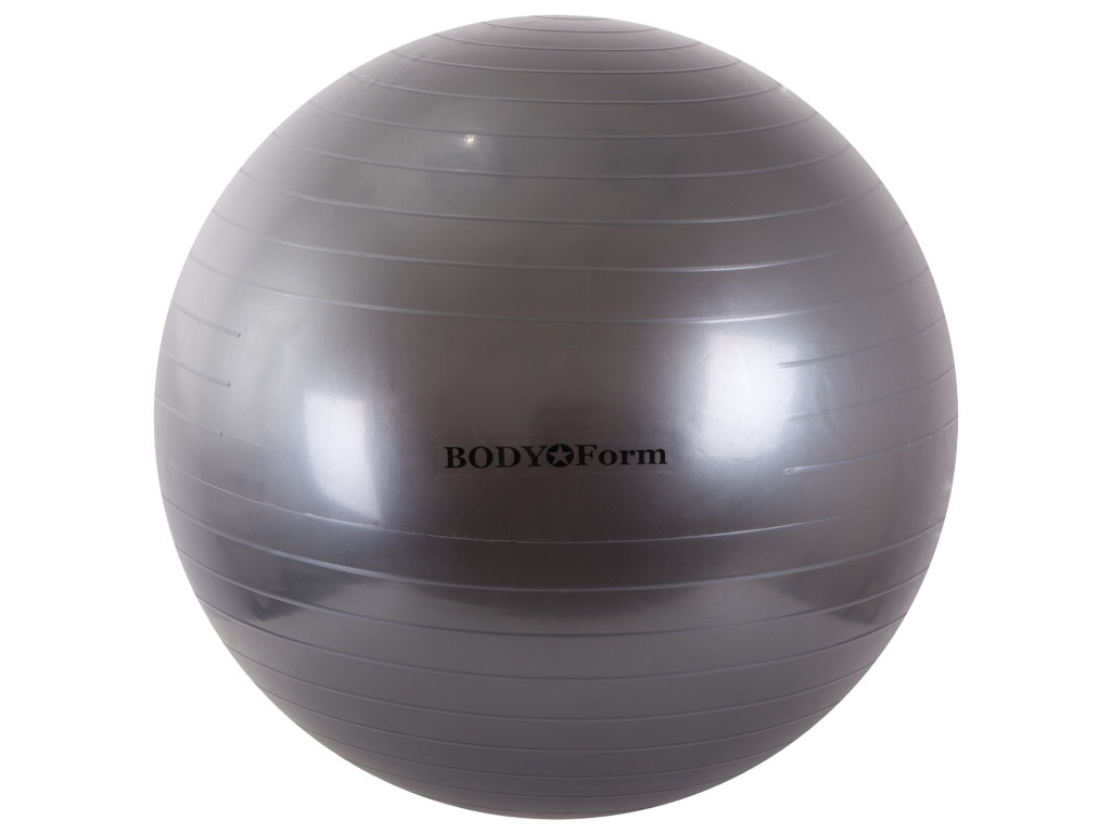 Мяч BodyForm BF-GB01 65cm Graphite мяч bodyform bf gb01 55cm pink