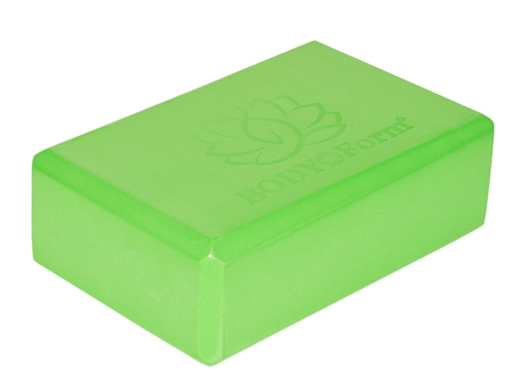 Блок для йоги BodyForm BF-YB02 Green