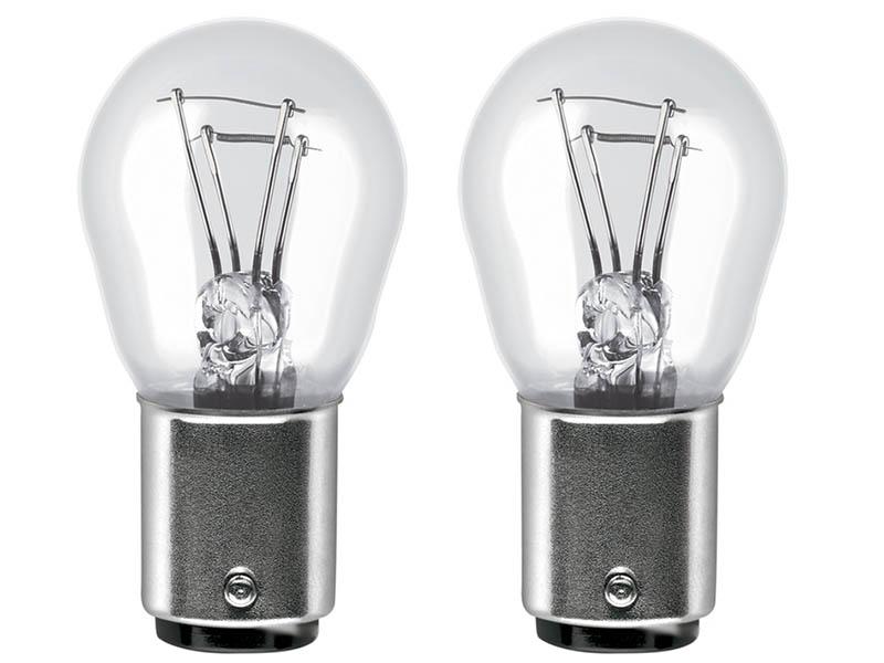 Лампа Osram P21/5W 12V-21/5W (BAY15d) 2шт 7528-02B