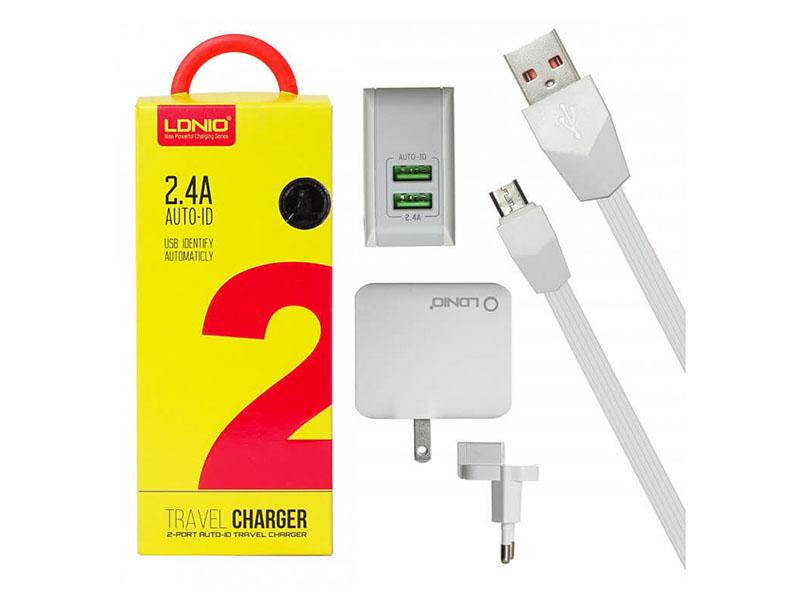 Зарядное устройство Ldnio A2203 2xUSB + Cable Micro USB White LD_B4384