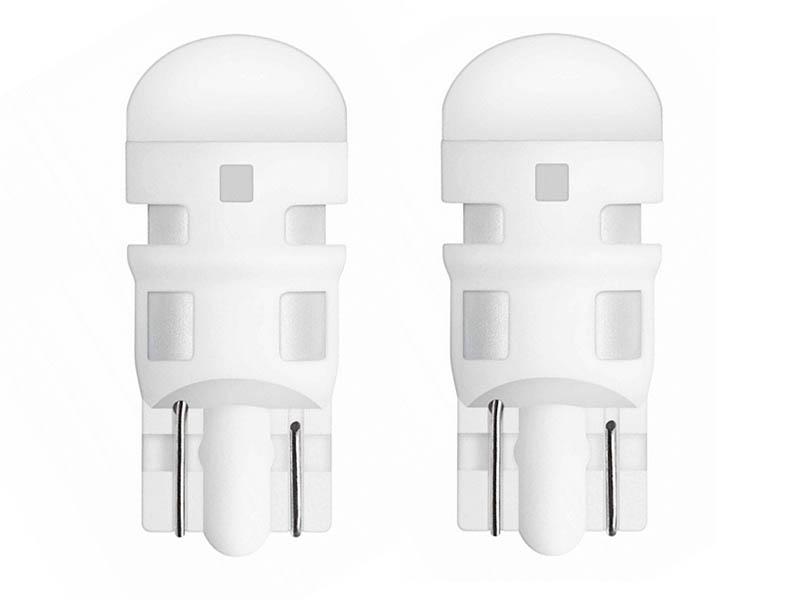 Лампа Osram W5W 12V-1W (W2.1x9.5d) LED Gree 2шт 2880GR-02B