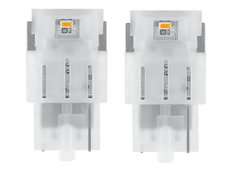 Лампа Osram W21W 12V-LED 1.0W (W3x16d) Amber 2шт 7706YE-02B