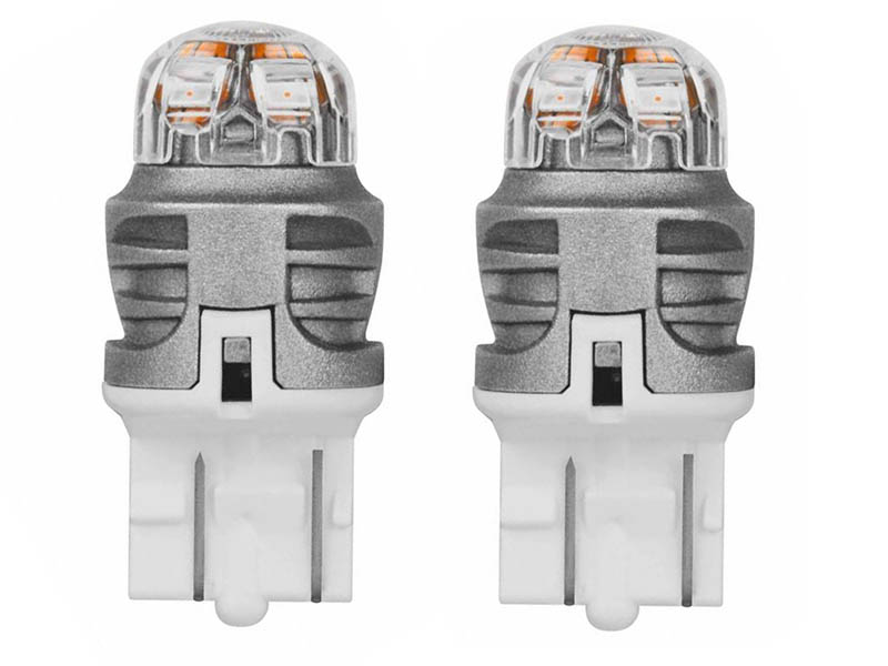 Лампа Osram W21/5W 12V-LED 1.5W (W3x16q) Amber 2шт 7915YE-02B