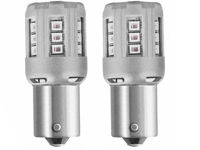 Лампа Osram P21W 12V-LED 2.0W (BA15s) Red 2шт 7456R-02B