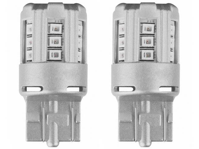 Лампа Osram P21/5W 12V-2.0/0.4W (BAY15d) LED Amber 2шт 1457YE-02B