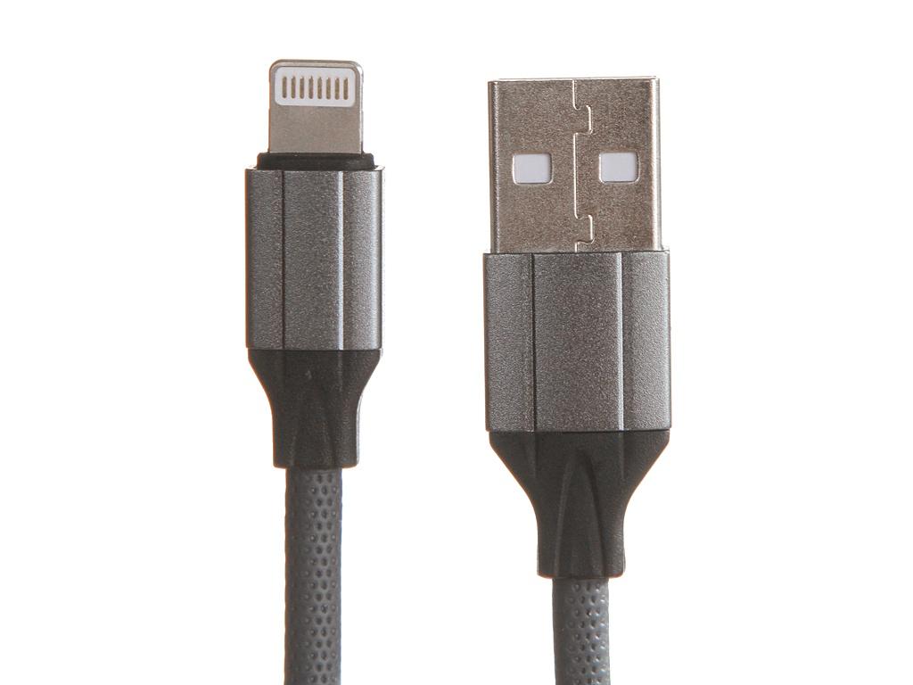 Аксессуар Ldnio LS442 USB - Lightning 2.4A 2m Gray LD_B4489