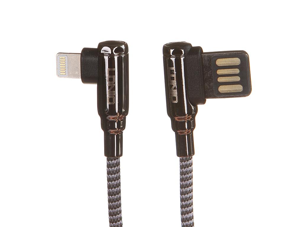 Аксессуар Ldnio LS422 USB - Lightning 2.4A 2m Gray LD_B4627