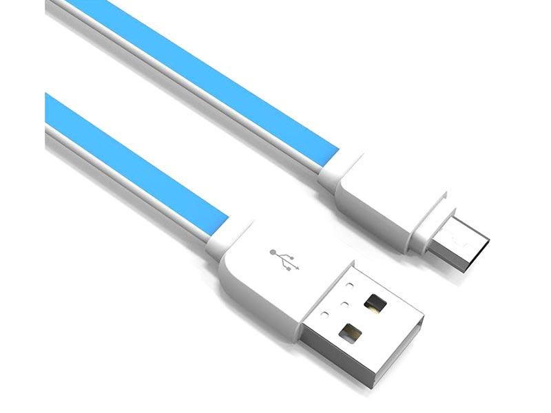 Аксессуар Ldnio XS-07 USB - Micro 2.1A 1m Blue LD_B4532