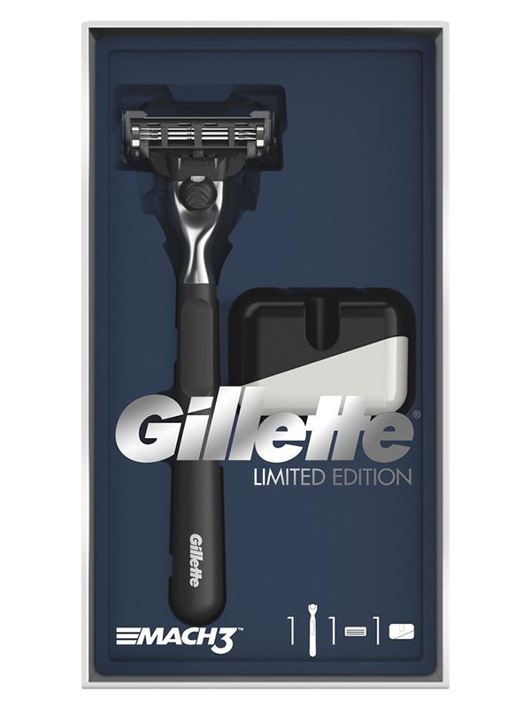 Бритва Gillette Mach3 Limited Edition + 1 кассета и подставка 7702018479429