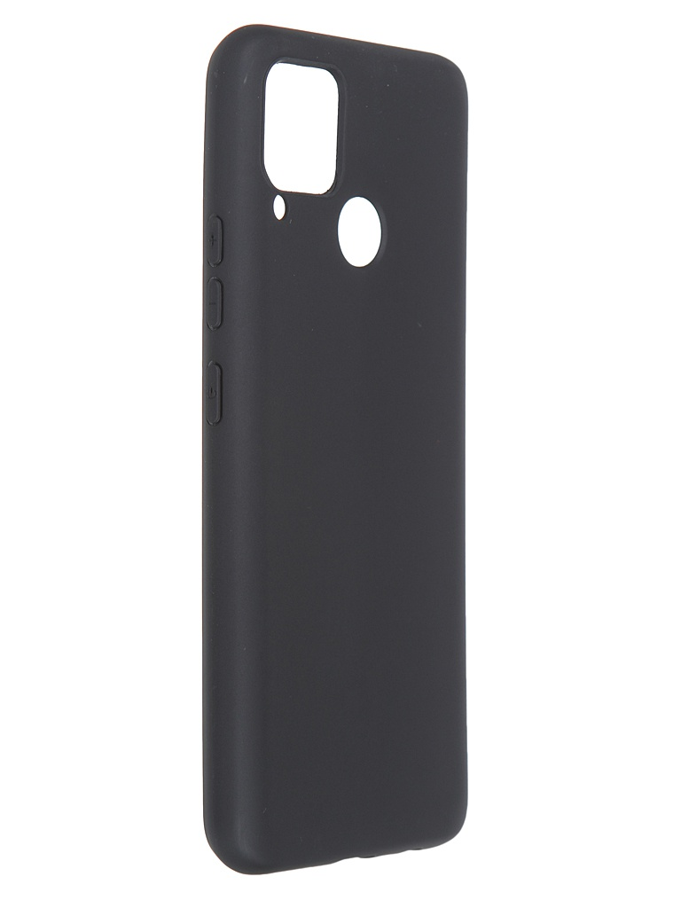 Чехол Brosco для Realme C15 Matt Black RM-C15-COLOURFUL-BLACK