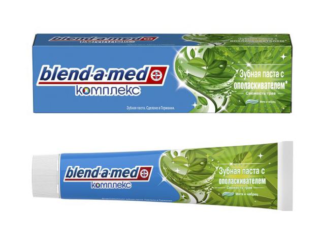 Зубная паста Blend-a-med Свежесть трав Мята и чабрец 75ml 8001090271556