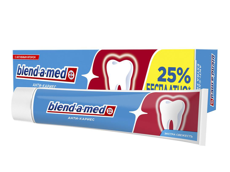 Зубная паста Blend-a-med Анти-кариес Свежесть 125ml 5011321931688