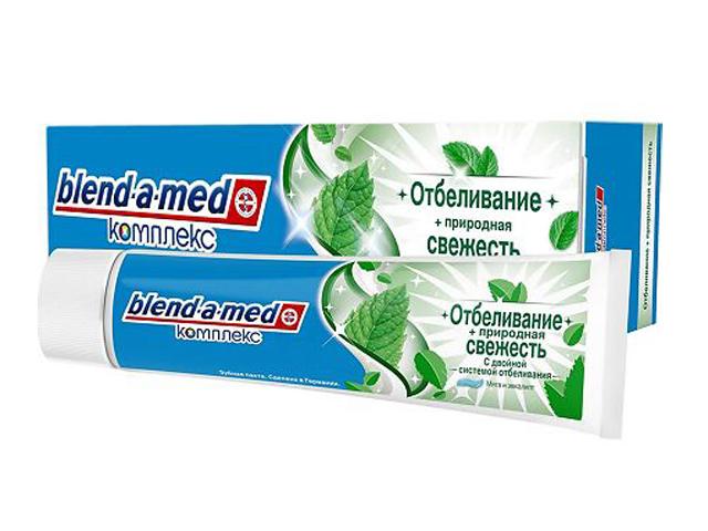 Зубная паста Blend-a-med Отбеливание + природная свежесть Мята 100ml 5011321383555