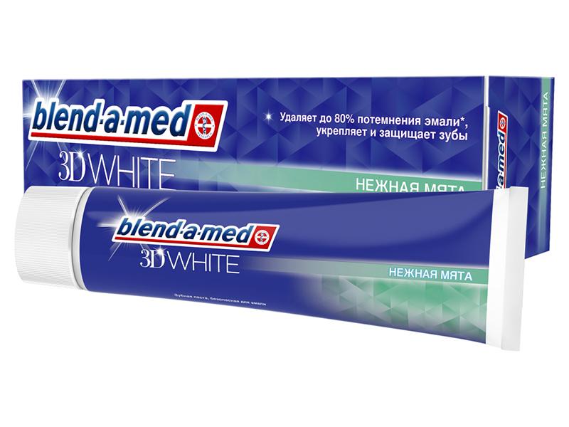 Зубная паста Blend-a-med 3D White Нежная мята 100ml 5000174415773