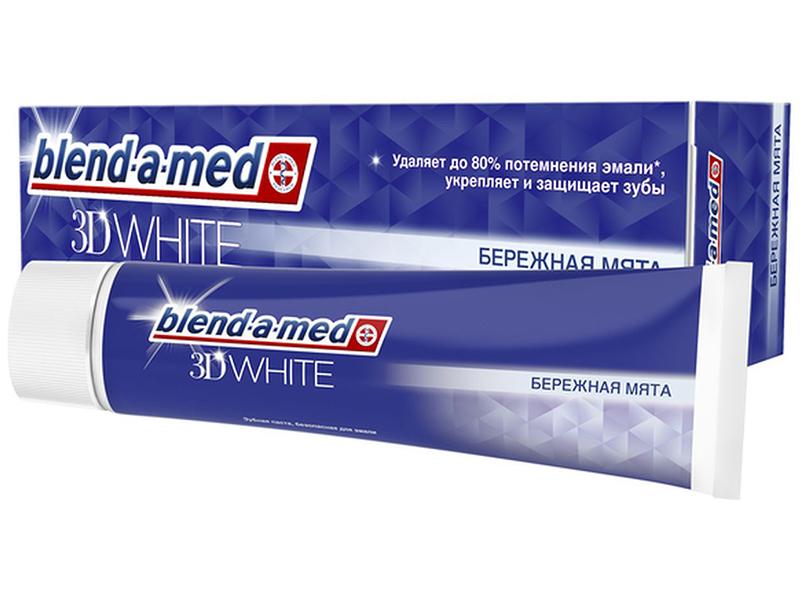 Зубная паста Blend-a-med 3D White Бережная мята 100ml 5000174379495