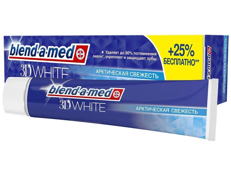 Зубная паста Blend-a-med 3D White Арктическая свежесть 125ml 5410076475834