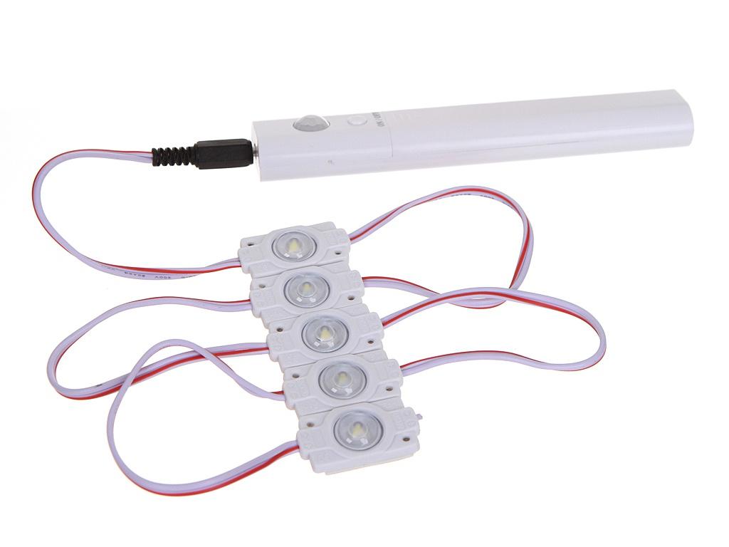 Светодиодный модуль линзованный URM SMD 2835 1LED 5V 0.6W 6500K IP67 5шт с датчиком движения Cold White L10015