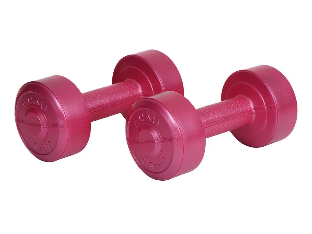 Гантели Euro Classic 1kg Pink 28273089