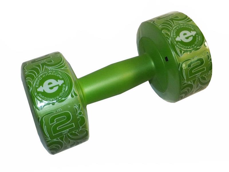 Гантели Euro Classic Plastic 2kg Lime Green 28265989