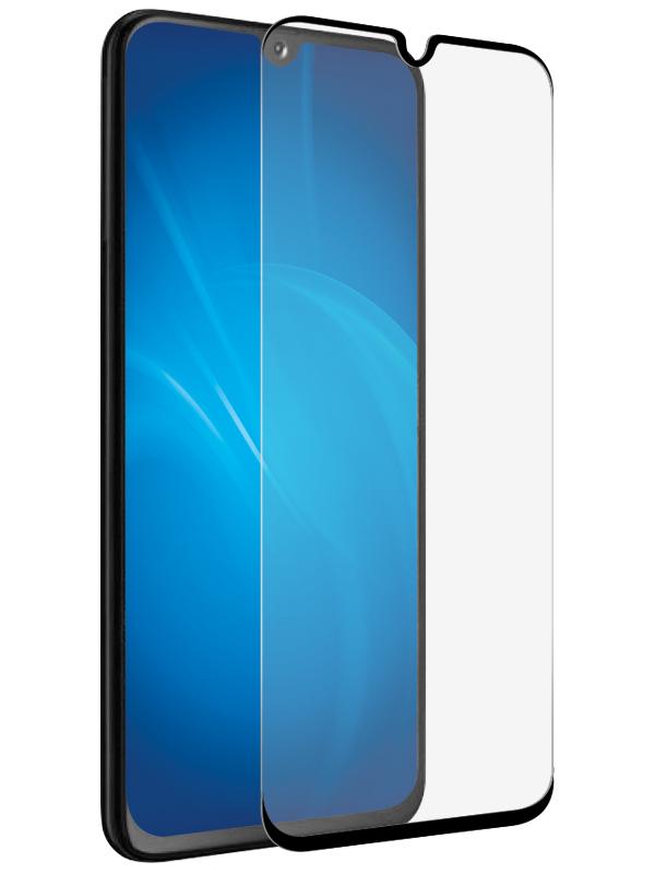 Защитное стекло Krutoff для Samsung Galaxy A91 Full Glue Premium Black 22862