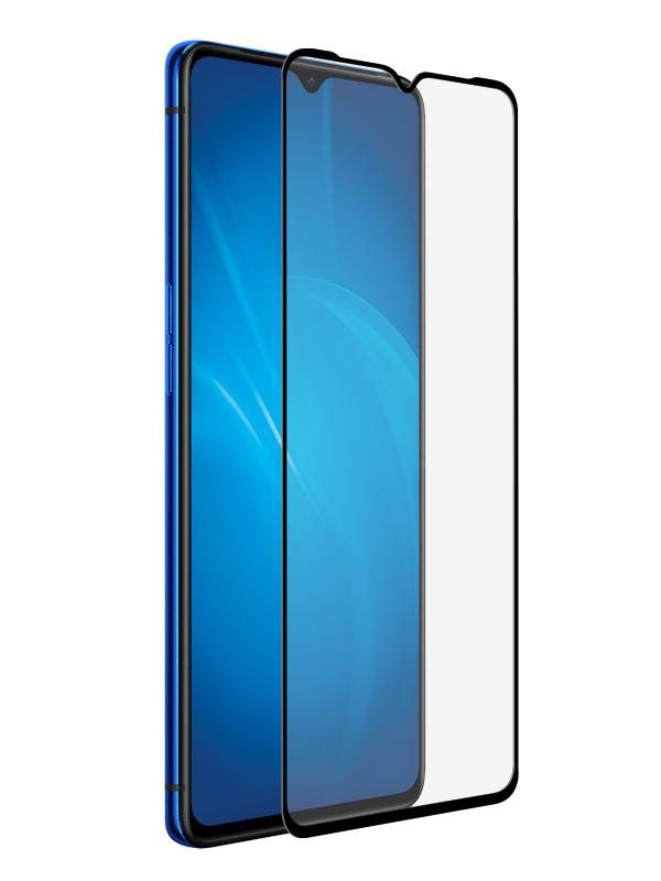 Защитное стекло Krutoff для Oppo A91 / Reno3 Full Glue Premium Black 22864