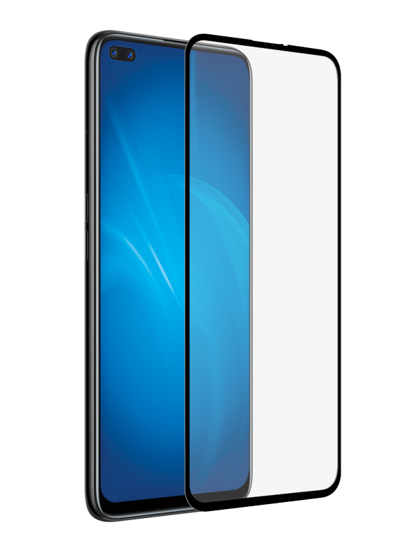 Защитное стекло Krutoff для Realme 6 Pro / Oppo A92s Full Glue Premium Black 22874