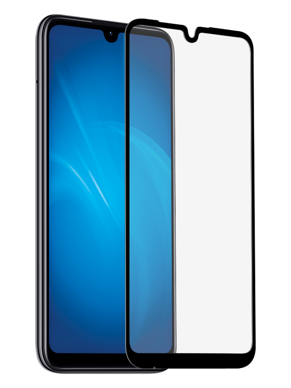 Защитное стекло Krutoff для Xiaomi Mi 10 Lite Full Glue Premium Black 22890
