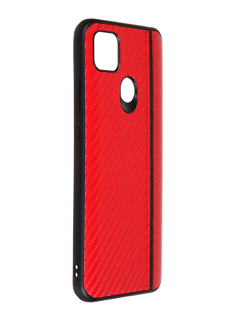 Накладка G-Case для Xiaomi Redmi 9C Carbon Red GG-1288