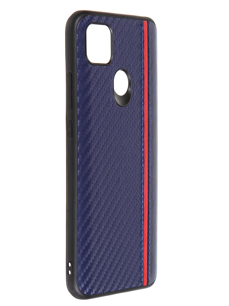 Накладка G-Case для Xiaomi Redmi 9C Carbon Dark-Blue GG-1289