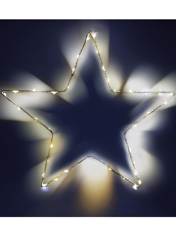 Светящееся украшение SnowHouse Фигура Звезда MST30-LDM40-WW-BO