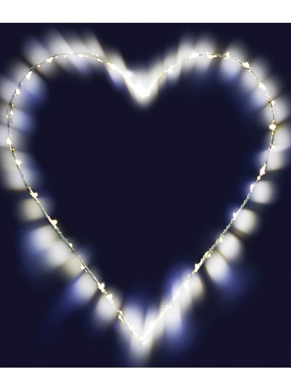 Светящееся украшение SnowHouse Фигура Сердце MHT26-LDM40-WW-BO