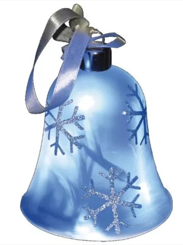 Светящееся украшение SnowHouse Светильник-подвеска Колокольчик Blue GM3307-35