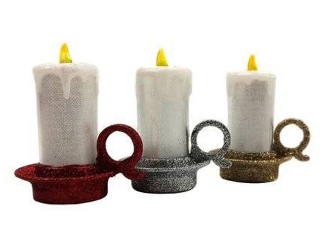 Светящееся украшение SnowHouse Светильник свеча 8cm 574012/15
