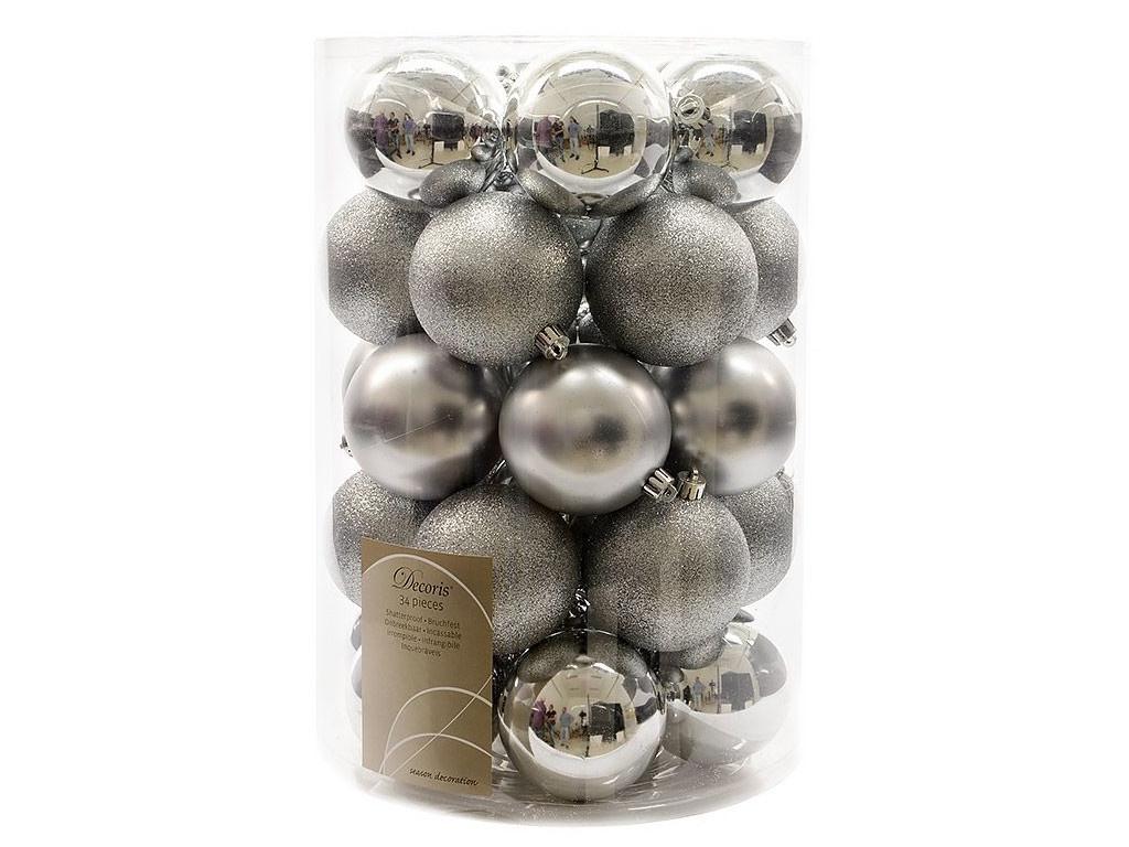 Набор шаров Kaemingk Серебряная коллекция 80mm 34шт 023305 / 155292-kaemingk