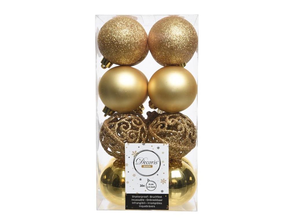 Набор шаров Kaemingk Ансамбль с изюминкой 60mm 16шт Gold 020850 / 167145-kaemingk