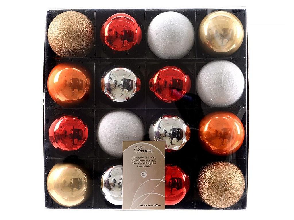 Набор шаров Kaemingk Deluxe Новогодний уют 60mm 16шт 023635 / 155294-kaemingk