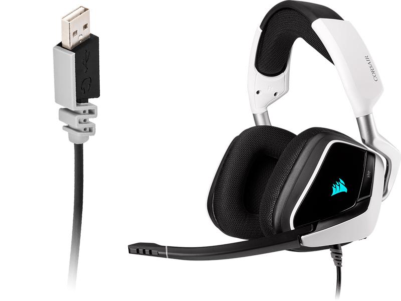 Наушники Corsair Gaming Void RGB Elite USB White CA-9011204-EU