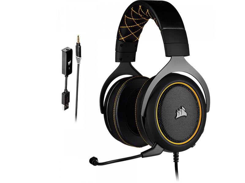 Наушники Corsair Gaming HS60 Pro Surround Yellow CA-9011214-EU