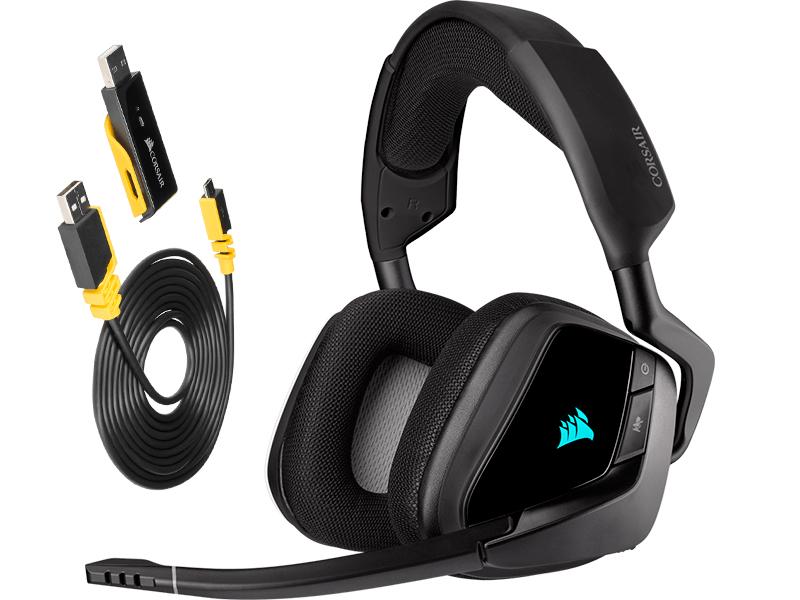 Наушники Corsair Gaming Void RGB Elite Wireless Carbon CA-9011201-EU