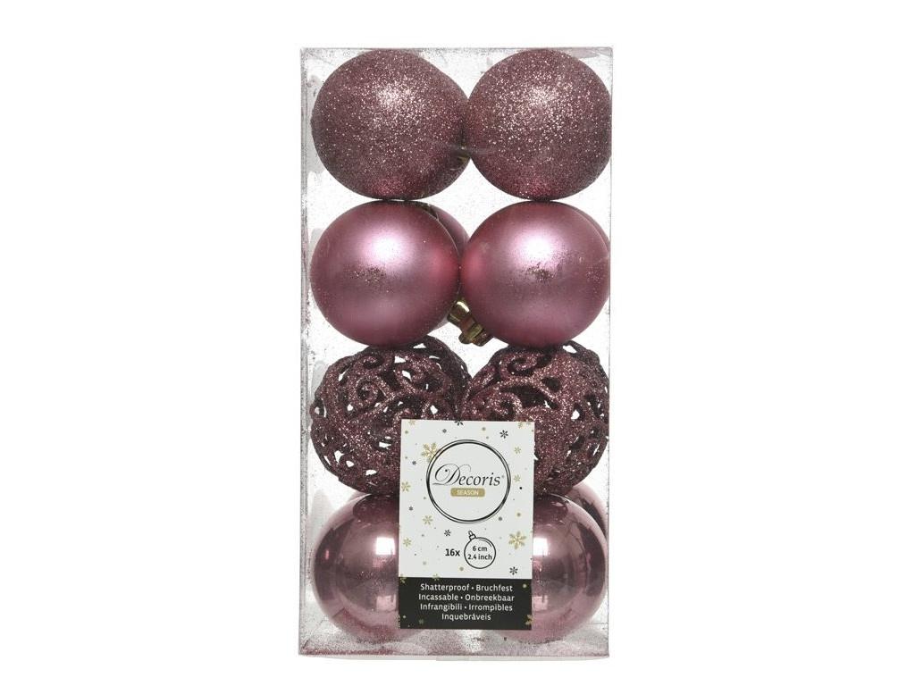 Набор шаров Kaemingk Ансамбль с изюминкой 60mm 16шт Pink Velvet 020890 / 167148-kaemingk