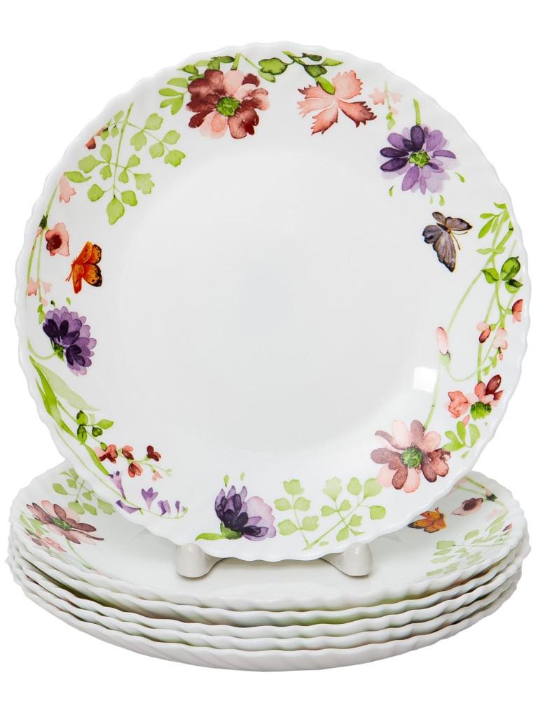 Набор тарелок PSF Group Olaff Акварель 6 предметов 131-21017-6