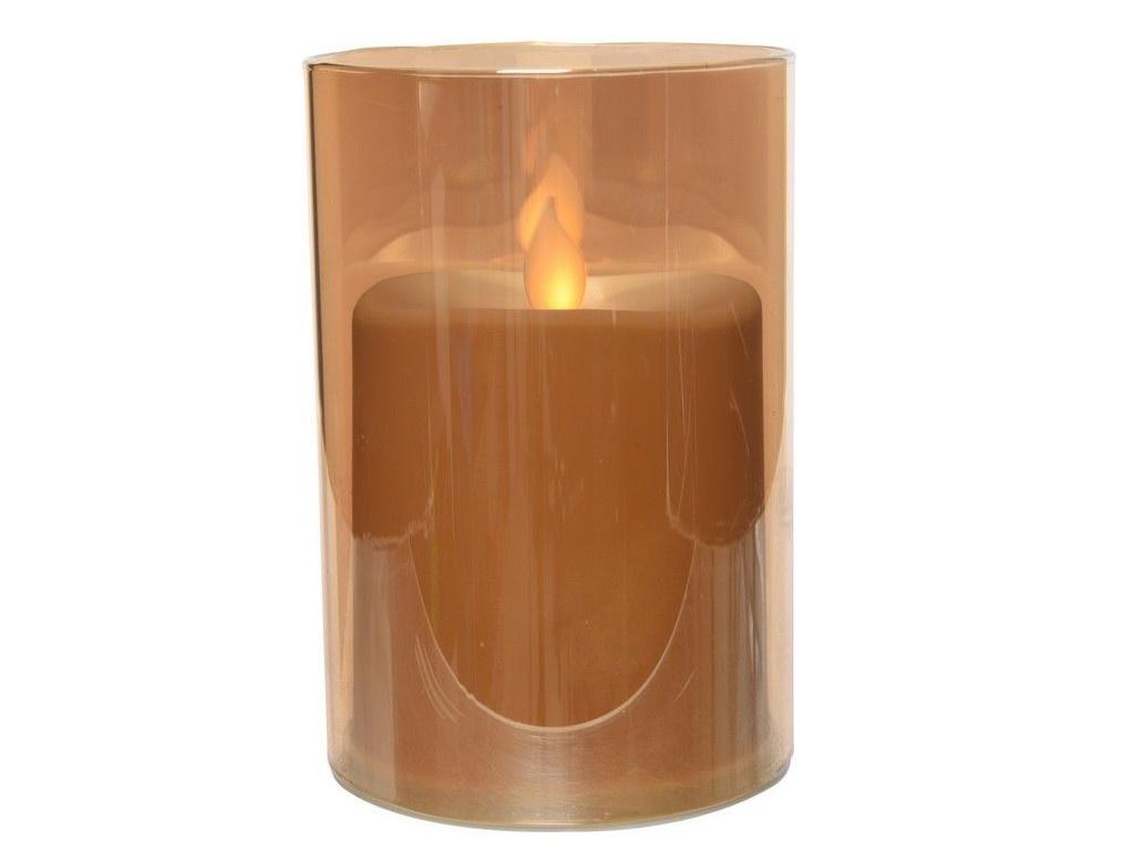 Светодиодная свеча Kaemingk Огонёк в стакане 8.3x12.5cm Gold 482966/162049