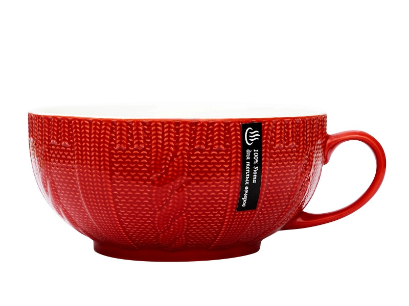 Кружка Эврика Вязаная 550ml Red 99923