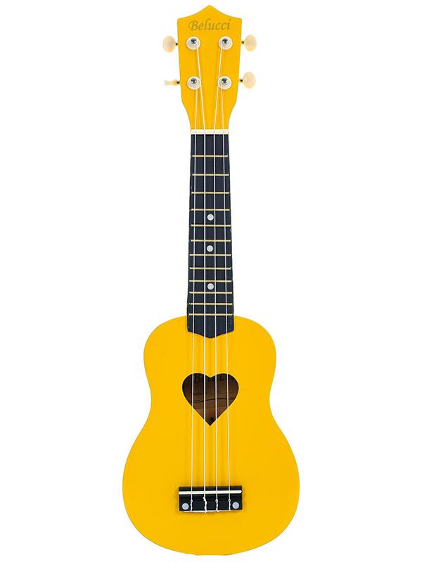 Укулеле Belucci B-21 Heart Yellow