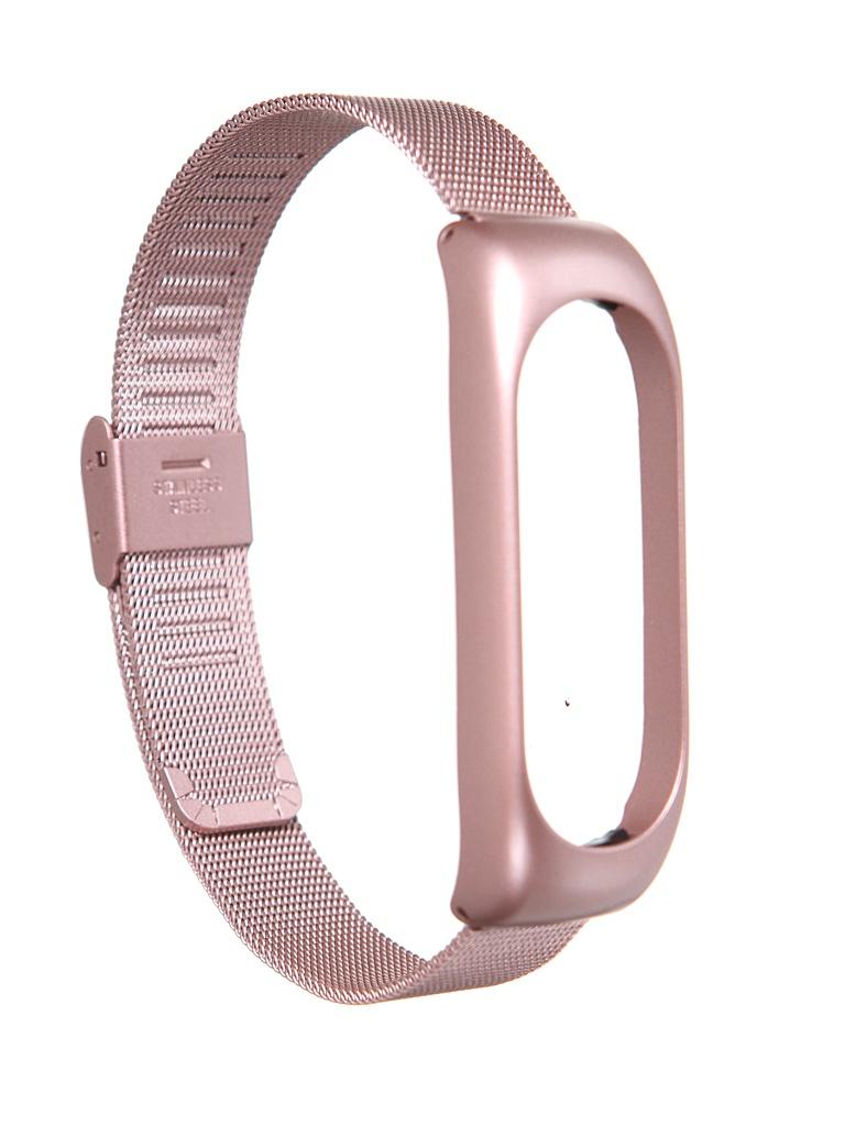 Aксессуар Ремешок Red Line для Xiaomi Mi Band 5 Metal with Magnet Pink УТ000022635
