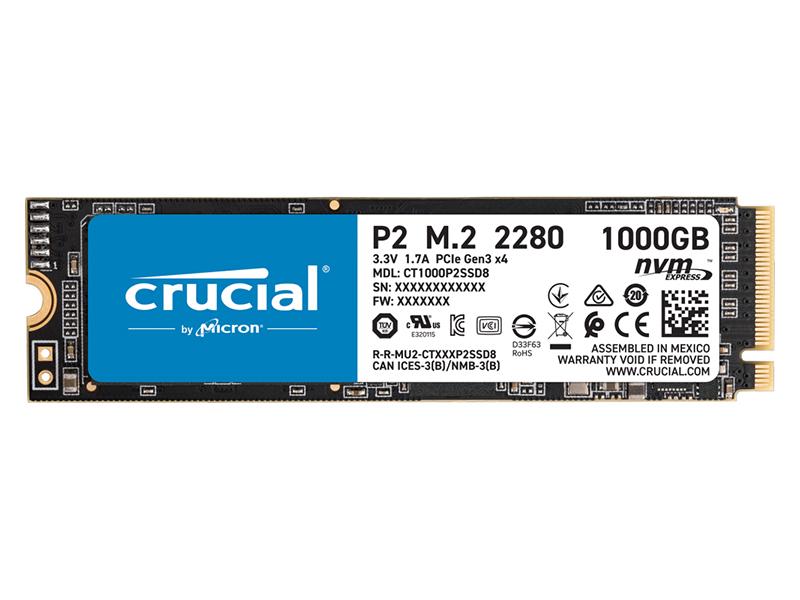 Твердотельный накопитель Crucial P2 PCIe M.2 2280SS 1Tb CT1000P2SSD8