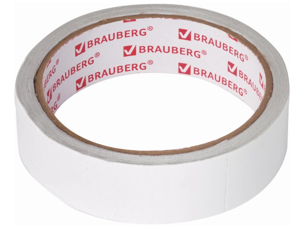 Клейкая лента двусторонняя Brauberg 25mm x 8m 606425