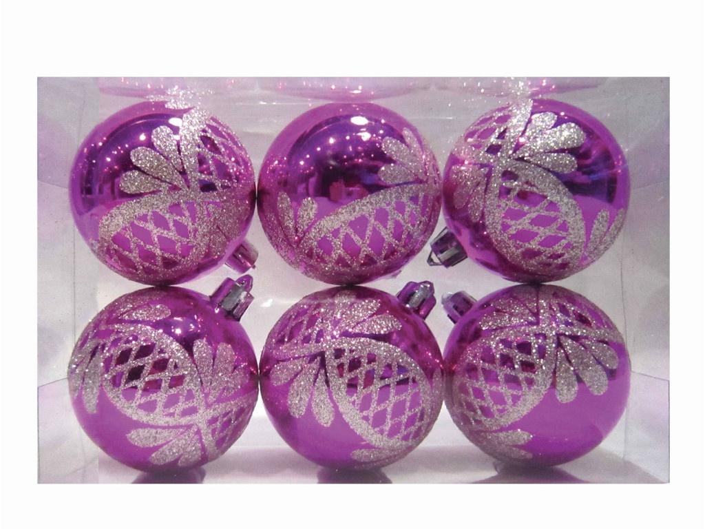 Набор шаров Золотая сказка 6cm 6шт Fuchsia 59585/590645